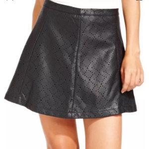 Jessica Simpson Faux Leather Mini Skirt